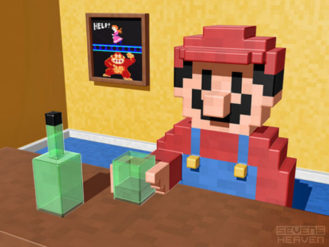 Retro-Games in 3D-Pixeln
